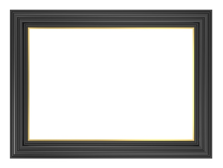 Black frame isolated on white background. Computer generated 3D photo rendering. Stock Photo