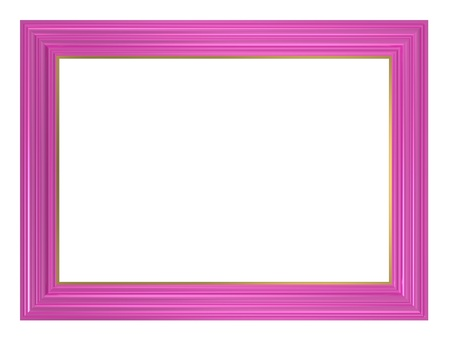 Pink frame isolated on white background. Computer generated 3D photo rendering.