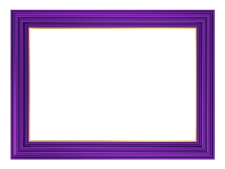 violet: Violet frame isolated on white background. Computer generated 3D photo rendering.  Stock Photo
