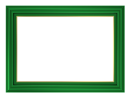 Green frame isolated on white background. Computer generated 3D photo rendering.  photo
