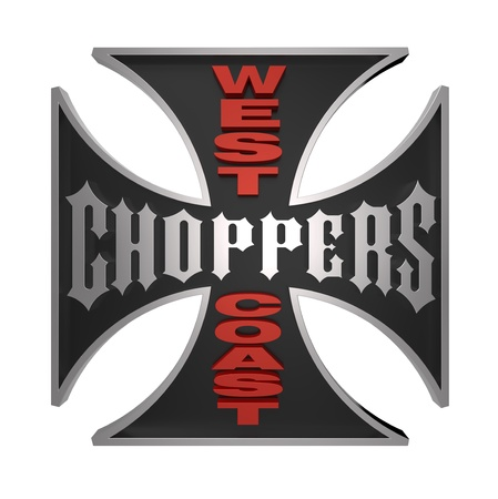 germanic: Choppers cross isolated on white. Computer generated 3D photo rendering.