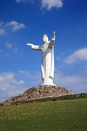 Jesus Christus-Denkmal, Swiebodzin, Polen Lizenzfreie Bilder