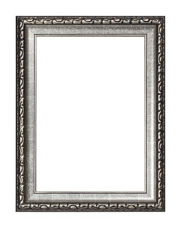 Silver frame isoliert auf weißem Hintergrund Lizenzfreie Bilder