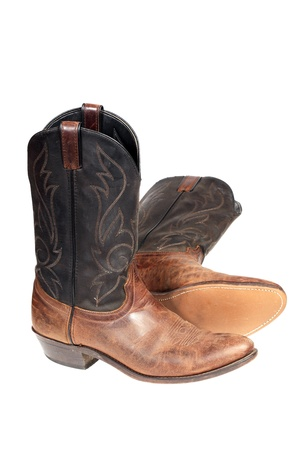 Cowboy boots isolated over white