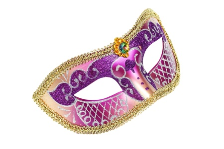 Carnival Venetian mask isolated on white background  Stock Photo - 11904039