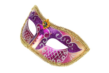 Carnival Venetian mask isolated on white background  Stock Photo - 11904037