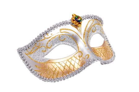 masquerade masks: Carnival Venetian mask isolated on white background