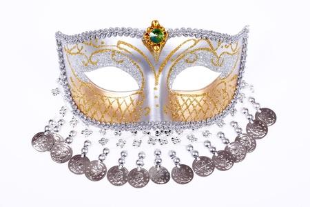 Carnival Venetian mask isolated on white background photo