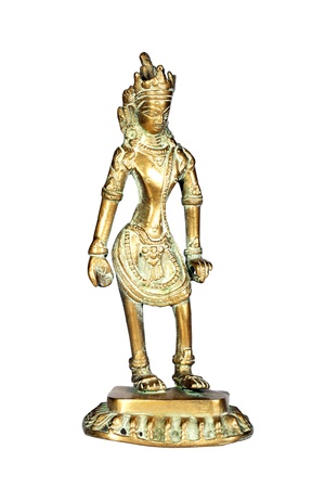 indian god: Ancient figure of Indian God  Stock Photo
