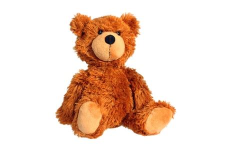 osos de peluche: Sentado el oso de peluche aislado más de blanco
