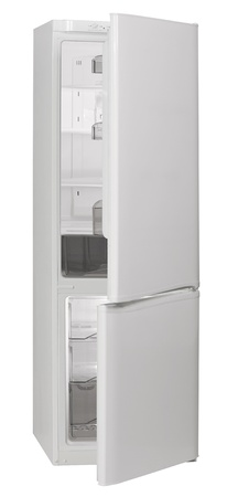 Two door white No Frost refrigerator isolated on white background Stock Photo - 12467102