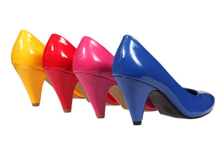 Pink, red, yellow and blue women Stock Photo - 12896758