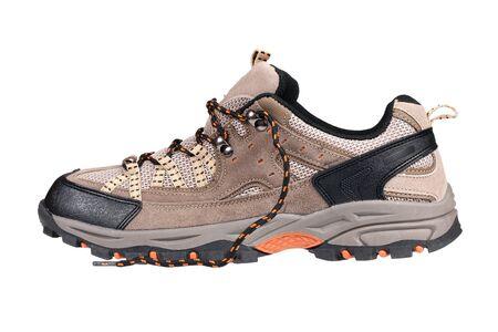 Sport trekking shoe isolated over white photo