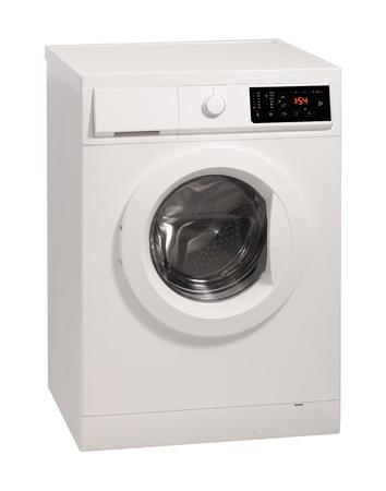 Waschmaschine über weißem Hintergrund