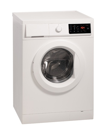 Washing machine isolated over white background  photo