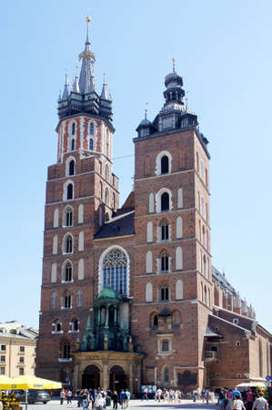 KRAKOW, POLAND - MAY 20: City Square with St. Mary Stock Photo - 13744019