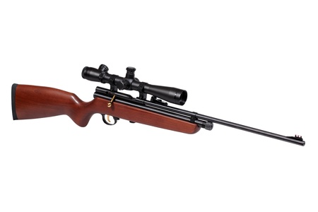 airgun: Air rifle isolated over white with clipping path