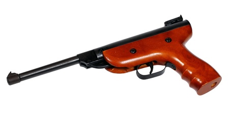 airgun: Airgun isolated over white with clipping path.