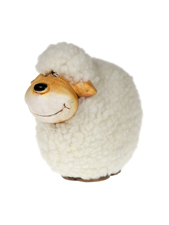 Easter sheep isolated over white