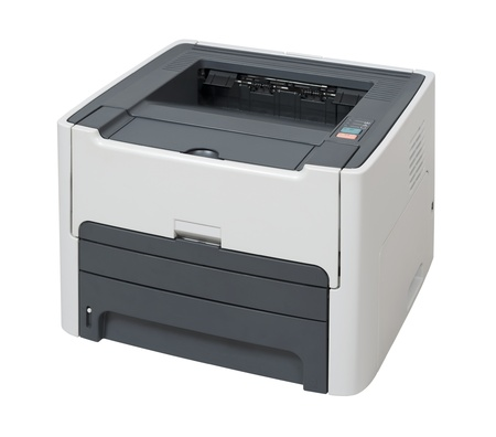 Laser printer isolated on over white with clipping path  Foto de archivo