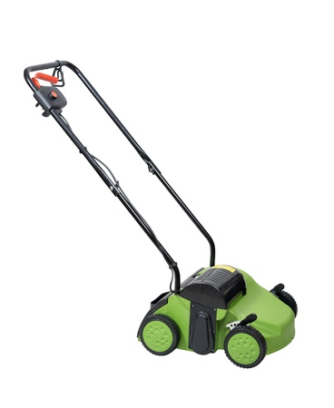 aerator: Lawn aerator isolated over white with clipping path