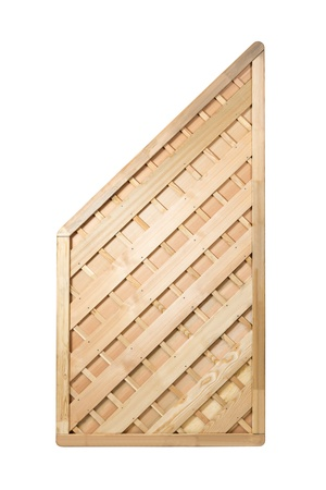 replicated: Wooden fence panel on white background with clipping path   It can be replicated left and right