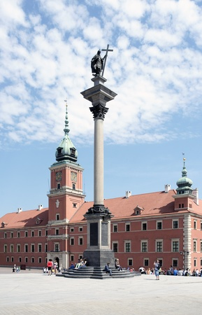 WARSAW, POLAND - MAY 8: View of Sigmund