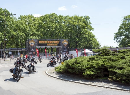 Wroclaw, Poland. Sunday 19th May 2013. Motorcyclists are leaving event 'Harley-Davidson Super Rally 2013'
