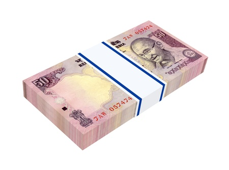 India Rupee isolated on white background  Computer generated 3D photo rendering