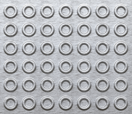 Metal texture background with embossed wheels
