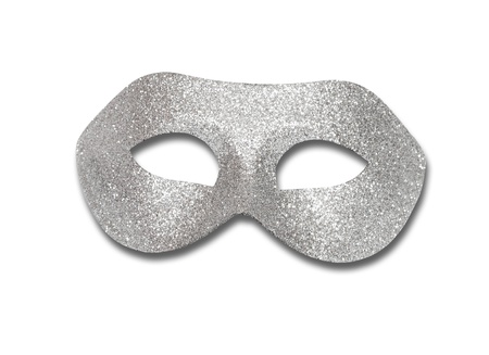 Carnival Venetian mask isolated on white background with clipping path photo