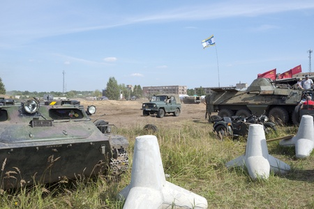 At the X International meeting of military vehicles  TRACKS AND HORSESHOE  in Borne Sulinowo, Poland on August 16, 2013  Stock Photo - 21838846