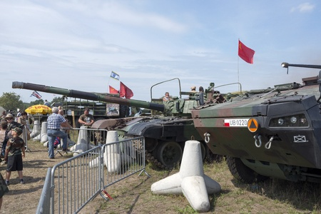 At the X International meeting of military vehicles  TRACKS AND HORSESHOE  in Borne Sulinowo, Poland on August 16, 2013  Stock Photo - 21838847