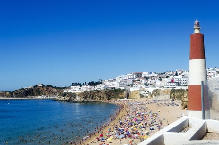 The beach in Albufeira, Algarve, Portugal  Stock Photo - 21948561