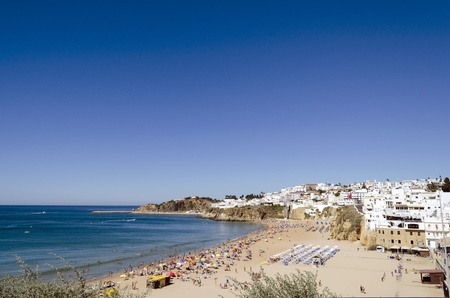The beach in Albufeira, Algarve, Portugal  Stock Photo - 21843961