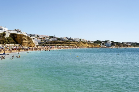 The beach in Albufeira, Algarve, Portugal  Stock Photo - 21843965