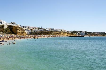 The beach in Albufeira, Algarve, Portugal  Stock Photo - 21843965