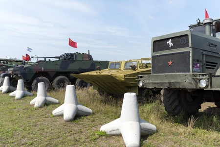 At the X International meeting of military vehicles  TRACKS AND HORSESHOE  in Borne Sulinowo, Poland on August 16, 2013  Stock Photo - 21840375
