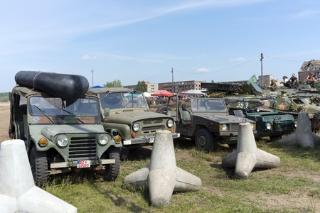 At the X International meeting of military vehicles  TRACKS AND HORSESHOE  in Borne Sulinowo, Poland on August 16, 2013  Stock Photo - 21840376