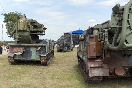 At the X International meeting of military vehicles  TRACKS AND HORSESHOE  in Borne Sulinowo, Poland on August 16, 2013  Stock Photo - 21840378