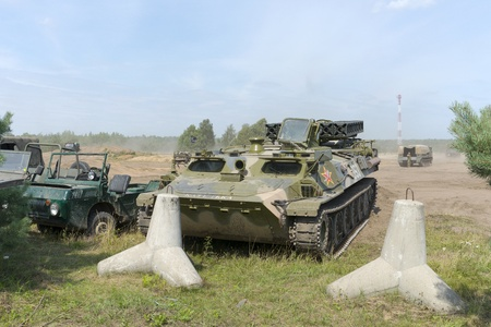 At the X International meeting of military vehicles  TRACKS AND HORSESHOE  in Borne Sulinowo, Poland on August 16, 2013  Stock Photo - 21840379