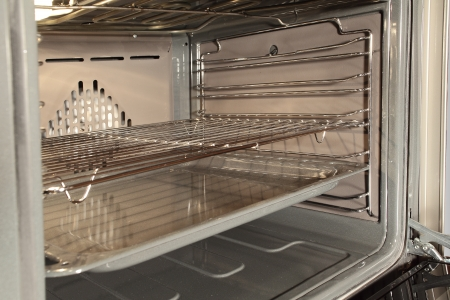 convection: The inside of a stove oven Stock Photo