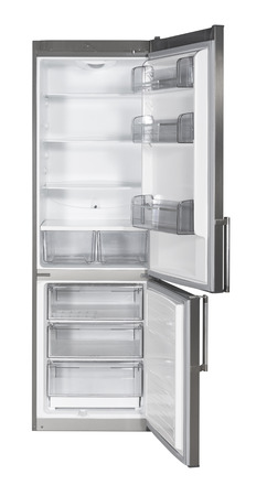 Two door refrigerator isolated on white background with clipping path  Stock Photo