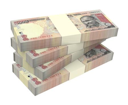 valuta: India rúpia elszigetelt, fehér, háttér számítógép által generált 3d-s renderelés fotó