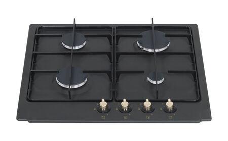 Black metal gas hob isolated on white Stock Photo - 26881452