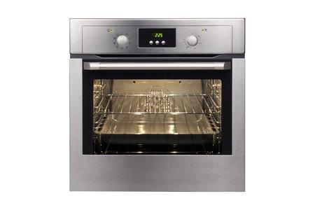 白い背景に分離された電気オーブン