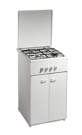 Free standing cooker isolated over white Stock Photo - 26881521