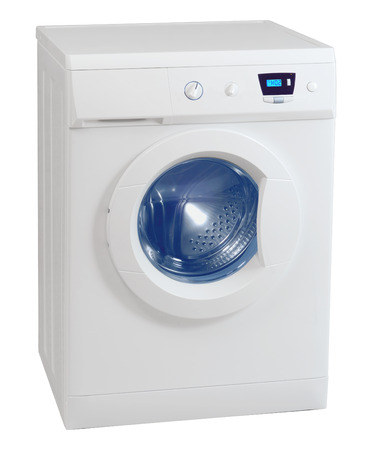 Washing machine isolated on the white background photo