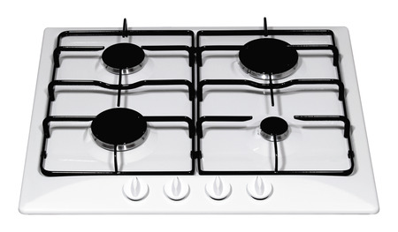 Gas hob isolated on white Stock Photo - 26881528