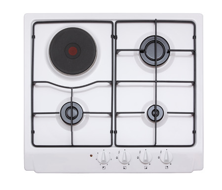 Gas hob isolated on white photo